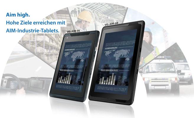 Überall produktiv mit anwendungsspezifischen Industrie Tablet PCs.