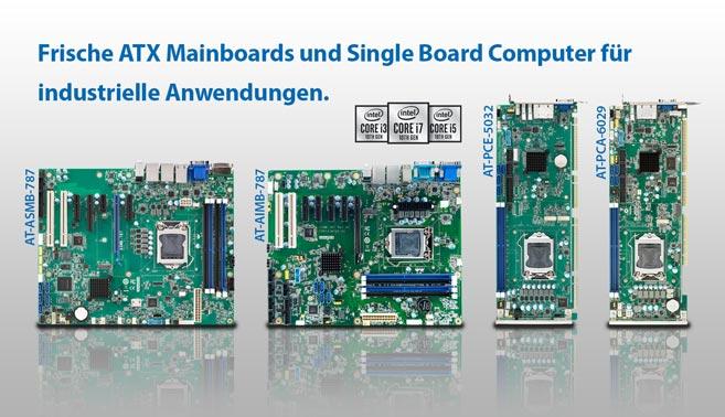 Frische Industrie Mainboards für die 10. Generation der Intel Core Prozessoren.