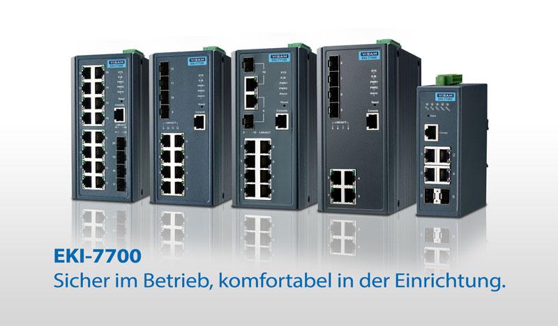 EKI-7700 Managed Ethernet Switches mit X-Ring Redundanz